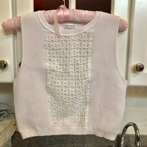Club Monaco Lace White Elegant Vest